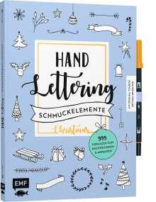 Handlettering-Schmuckelemente Christmas - 999 Vorlagen zum Nachzeichnen und Abpausen, Buch