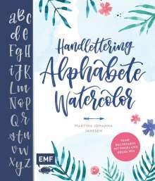 Martina Johanna Janssen: Handlettering Alphabete Watercolor, Buch