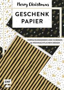 Das Geschenkpapier-Set - Merry Christmas: Verpackungsideen und 10 Bogen im weihnachtlichen Design, Buch
