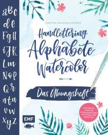Martina Johanna Janssen: Handlettering Alphabete Watercolor -Das Übungsheft, Buch