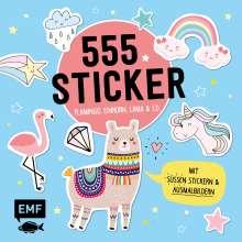 555 Sticker - Flamingo, Einhorn, Lama und Co., Buch