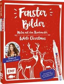 Martina Lammel: Fensterbilder malen mit dem Kreidemarker - White Christmas, Buch