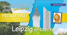 Leipzig entdecken. Postkartenset Stadtrundgang, Buch