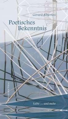 Gérard Albertini: Poetisches Bekenntnis, Buch