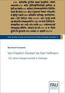 Bernhard Forssman: Von Friedrich Rückert bis Karl Hoffmann, Buch