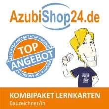 Jennifer Christiansen: AzubiShop24.de Kombi-Paket Lernkarten Bauzeichner/-in, Buch