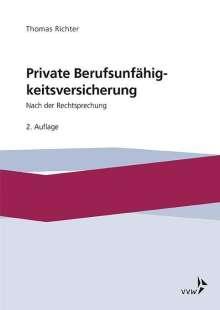 Thomas Richter: Private Berufsunfähigkeitsversicherung, Buch