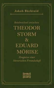 Jakob Bächtold: Briefwechsel zwischen Theodor Storm und Eduard Mörike, Buch