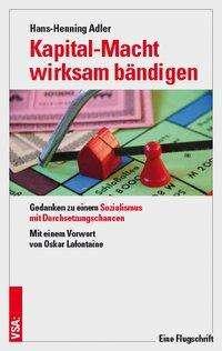 Hans-Henning Adler: Kapital-Macht wirksam bändigen, Buch