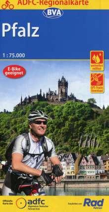 ADFC-Regionalkarte Pfalz, 1:75.000, reiß- und wetterfest, GPS-Tracks Download, Diverse
