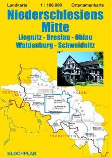Dirk Bloch: Landkarte Niederschlesiens Mitte 1:100.000, Diverse
