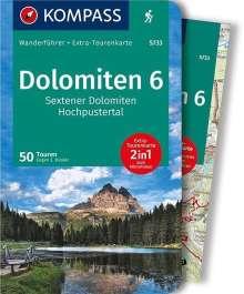Eugen E. Hüsler: Dolomiten 6 - Sextener Dolomiten - Hochpustertal, Buch