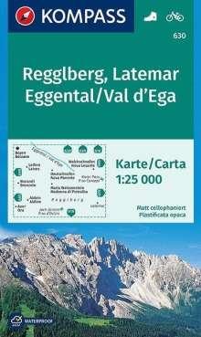 Regglberg - Latemar - Eggental / Val d'Ega 1 : 25 000, Diverse
