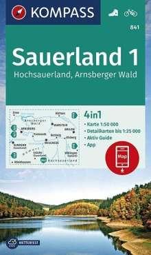 Sauerland 1, Hochsauerland, Arnsberger Wald 1:50 000, Diverse