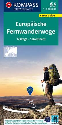 KV FWK 2562 Fernwanderwege Europa, Long-Distance-Paths Europe 1:1 250 000, Diverse