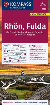 KOMPASS Fahrradkarte Rhön, Fulda 1:70.000, FK 3356, Diverse