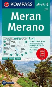 KOMPASS Wanderkarte Meran, Merano, Diverse