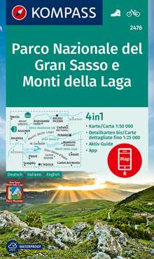 KOMPASS Wanderkarte Parco Nazionale del Gran Sasso e Monti della Laga 1:50 000, Diverse