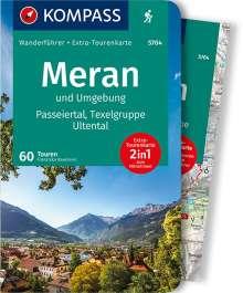 Franziska Baumann: KOMPASS Wanderführer Meran und Umgebung, Passeiertal, Texelgruppe, Ultental, Buch