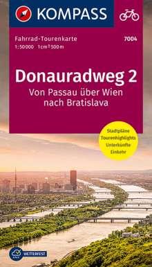 Fahrrad-Tourenkarte Donauradweg 2, Von Passau über Wien nach Bratislava, Diverse