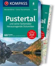 Eugen E. Hüsler: KOMPASS Wanderführer Pustertal und seine Seitentäler, Herausragende Dolomiten, Buch