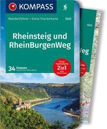 Silvia Behla: KOMPASS Wanderführer Rheinsteig RheinBurgenWeg, Buch