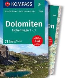Michael Will: KOMPASS Wanderführer Dolomiten Höhenweg 1 bis 3, Buch