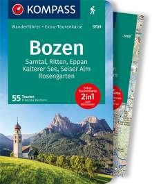 Franziska Baumann: KOMPASS Wanderführer Bozen, Sarntal, Ritten, Eppan, Kalterer See, Seiser Alm, Rosengarten, Buch
