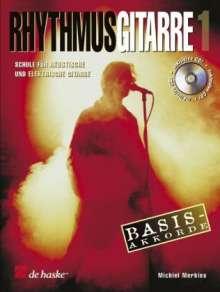 Michiel Merkies: Rhythmusgitarre, m. Audio-CD. Bd.1, Noten