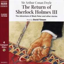 Arthur Conan Doyle: The Return of Sherlock Holmes III: The Adventure of Black Peter and Other Stories, CD