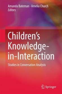 Children's Knowledge-in-interaction, Buch