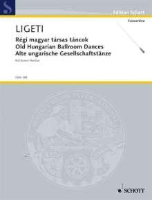 György Ligeti: Régi magyar társas táncok (1949), Noten