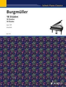Friedrich Burgmüller: 18 Etüden op. 109, Noten