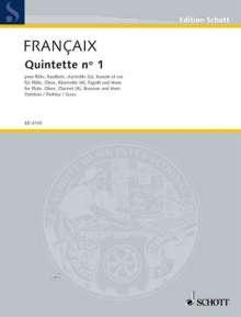 Jean Francaix: Quintette No. 1 (1948), Noten