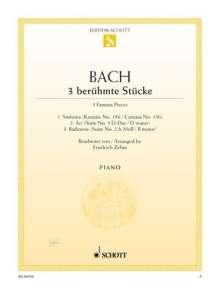 Johann Sebastian Bach (1685-1750): 3 berühmte Stücke, Noten