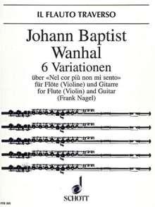 Johann Baptist Wanhal: 6 Variationen op. 42, Noten