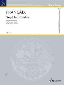 Jean Francaix: Sept Impromptus (1977), Noten
