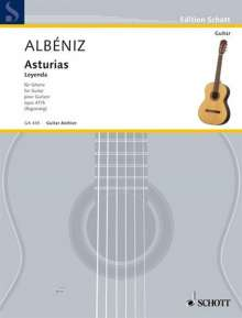 Isaac Albeniz: Asturias op. 47/5, Noten