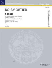 Joseph Bodin de Boismortier: Sonata D-Dur, Sopran-Blockflöte, Noten