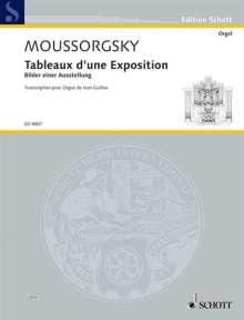 Modest Mussorgskij: Bilder einer Ausstellung, Bearbeitung für Orgel, Noten