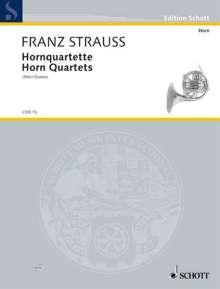 Hornquartette, Partitur und Stimme, Noten