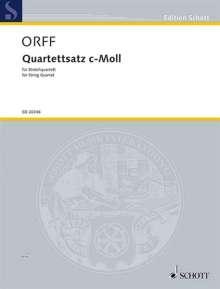 Carl Orff: Quartettsatz c-Moll (1921), Noten