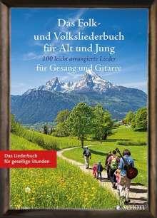 Das Folk- und Volksliederbuch für Alt und Jung. Gesang und Gitarre Liederbuch., Noten