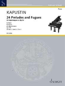 Nikolai Kapustin: 24 Preludes and Fugues op. 82 (1997), Noten
