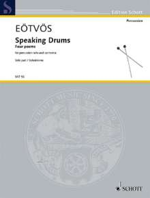 Peter Eötvös: Speaking Drums (2012/2013), Noten