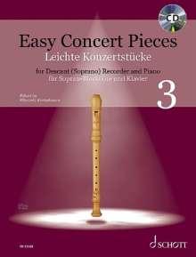 Easy Concert Pieces für Sopran-Blockflöte und Klavier, Band 3, Noten
