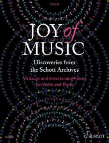 Joy of Music - Discoveries from the Schott Archives (Violine und Klavier), Noten