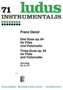 Franz Danzi: 3 Duos für Flöte und Violoncello op. 64, Noten