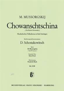 Modest Mussorgski: Chowanschtschina, Noten