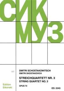 Dmitri Schostakowitsch: Streichquartett Nr. 3 op. 73, Noten